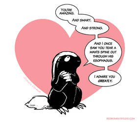 Morally Ambiguous Honey Badger Valentine #1 by ursulav