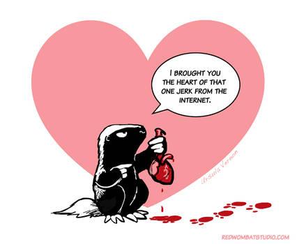 Morally Ambiguous Honey Badger Valentine #2
