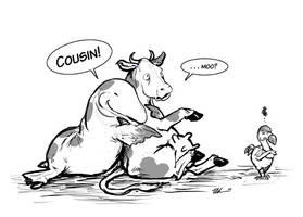 Ambulocetus vs. Cow by ursulav