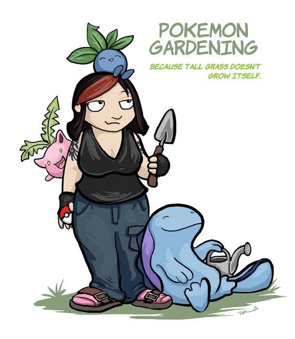 Pokemon Gardener by ursulav