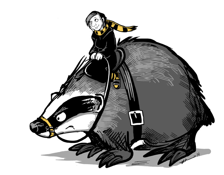 Portrait Of The Artist With Her War-Badger