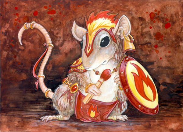 Fire Mouse by ursulav