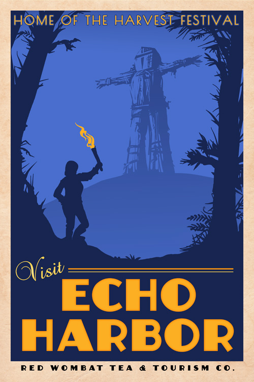 Echo Harbor Poster by ursulav