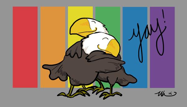 Eagle Hug by ursulav