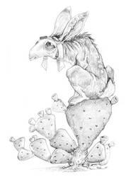 Dragglerabbit by ursulav