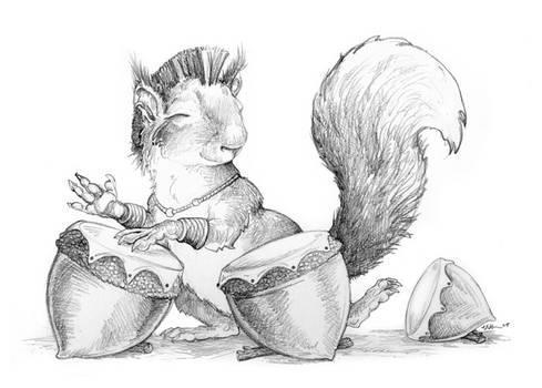 Squirrel Drummer