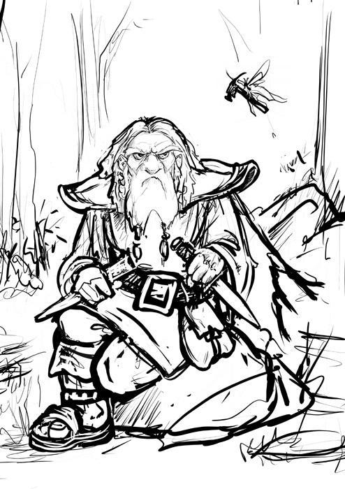 Dwarf Hammer by ursulav