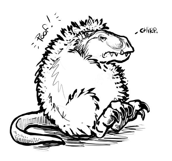 T Rex Goes Poof By Ursulav On Deviantart