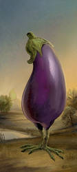 The Great Eggplant of Kalamata by ursulav
