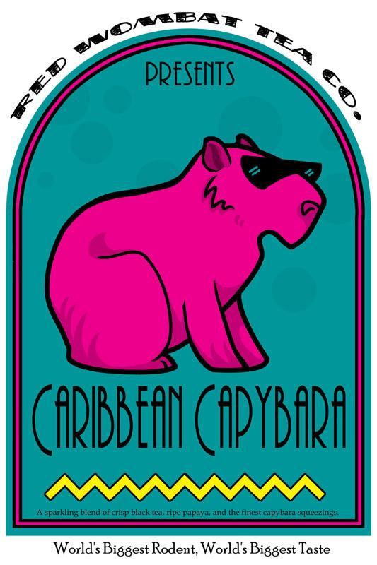 Caribbean Capybara Tea by ursulav