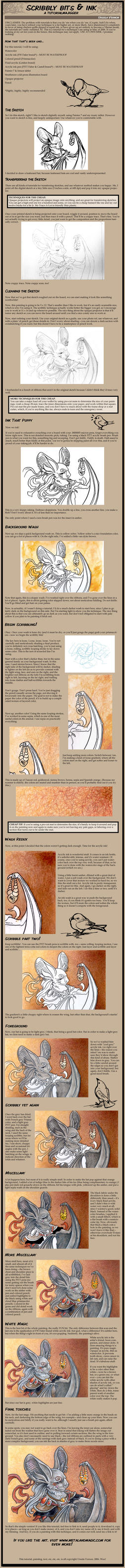 Scribbly and Ink Tutorial by ursulav