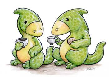 Hadrosaur Tea by ursulav