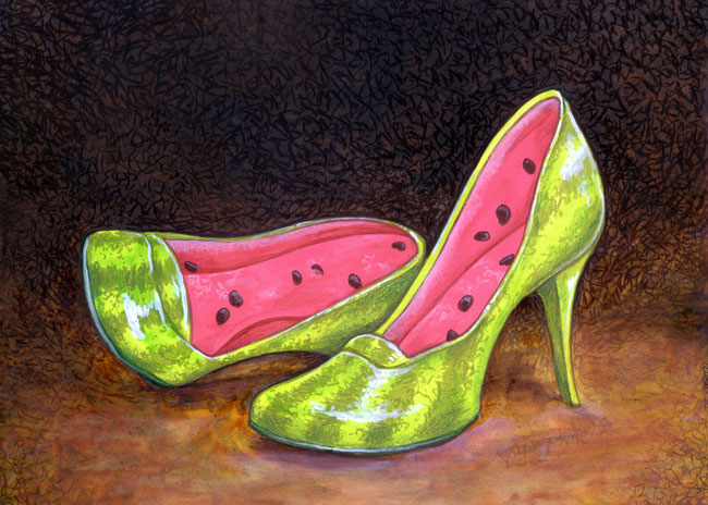 Watermelon Heels by ursulav