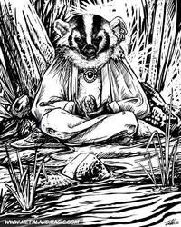 Zen Badger by ursulav