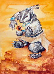 Badger Kachina by ursulav