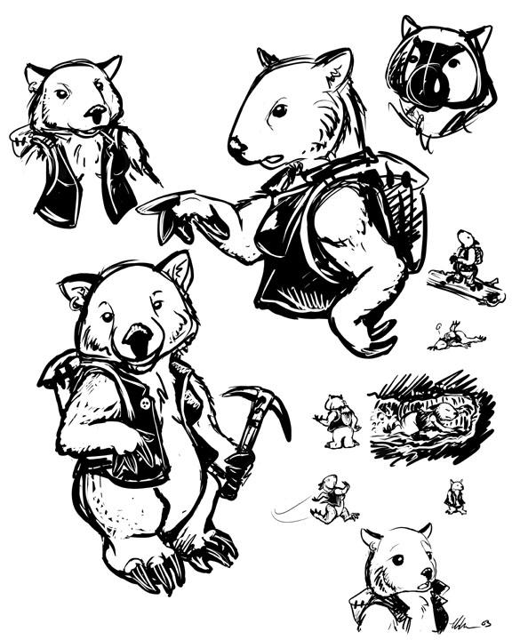 Wombat Drawing Wombat Sketches by urs...