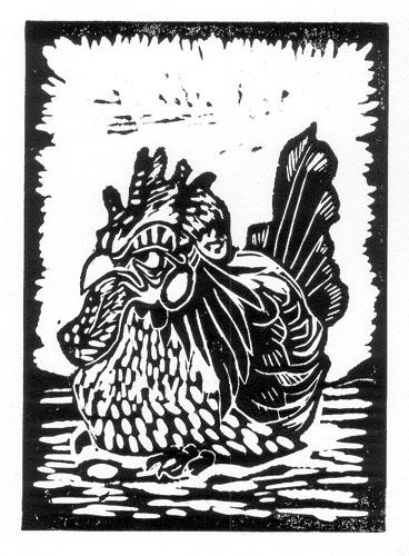 Grumpy Chicken by ursulav
