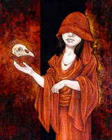 Woman With Bird Skull by ursulav