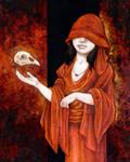 Woman With Bird Skull