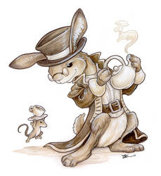 March Hare and Dormouse by ursulav