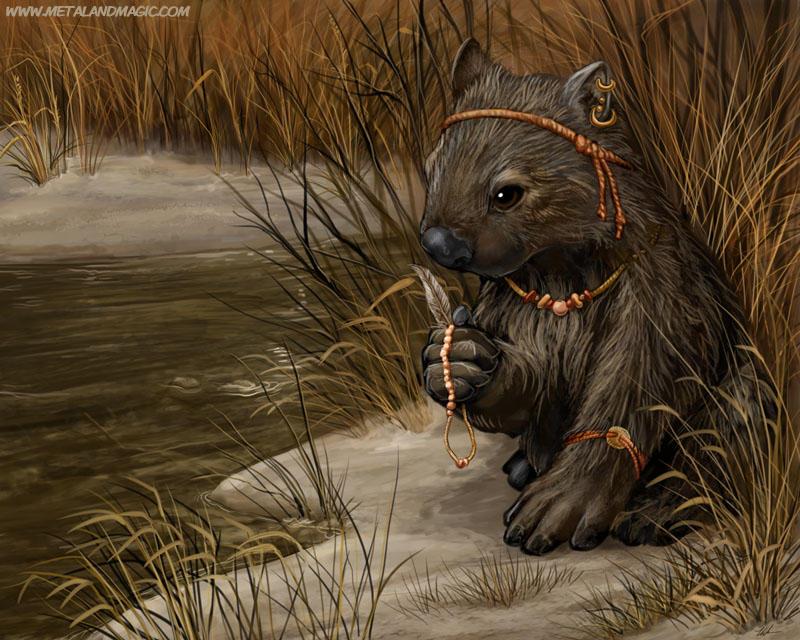 Aboriginal Wombat by ursulav