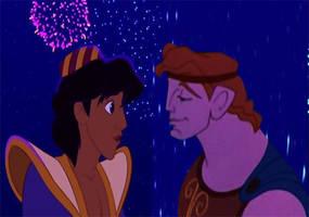 Cuando miro en tus ojos [Hercules x Aladdin] by oliverespectro