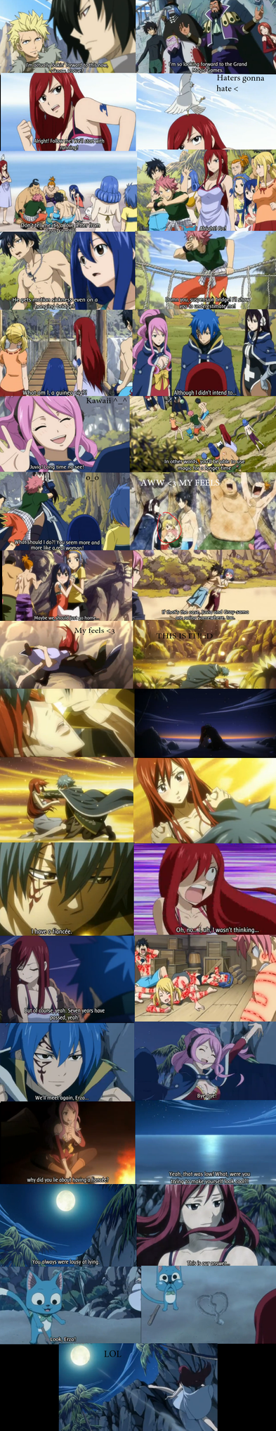 FAIRY TAIL EPISODE 154 Snapshots Jerza feels by Faithwoe