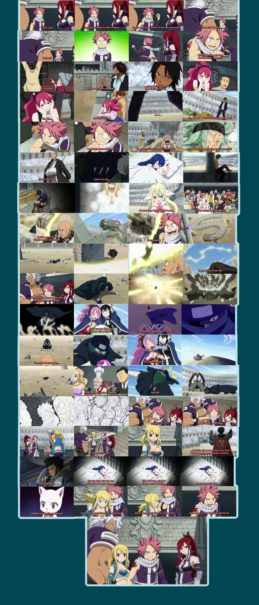 Fairy Tail Ep 160 snapshots by Faithwoe