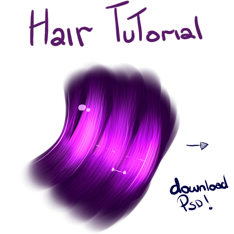 Hair Tutorial PSD Download by Faithwoe