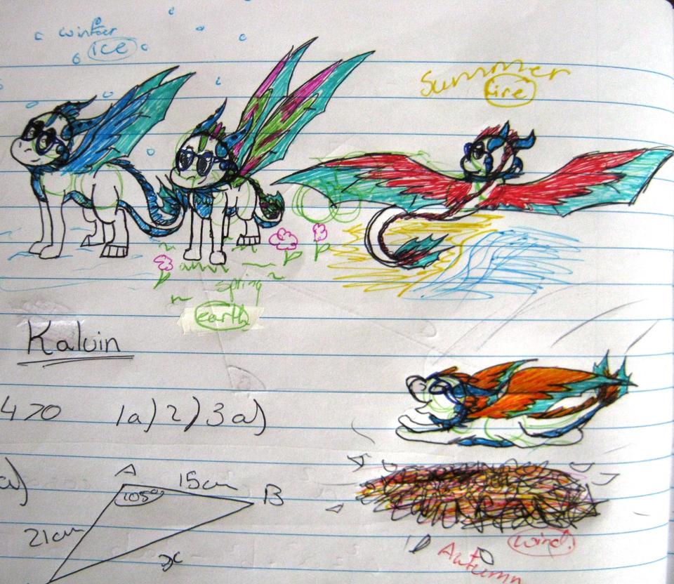 Kalvin's 4 season colour change by ghostdragoness16