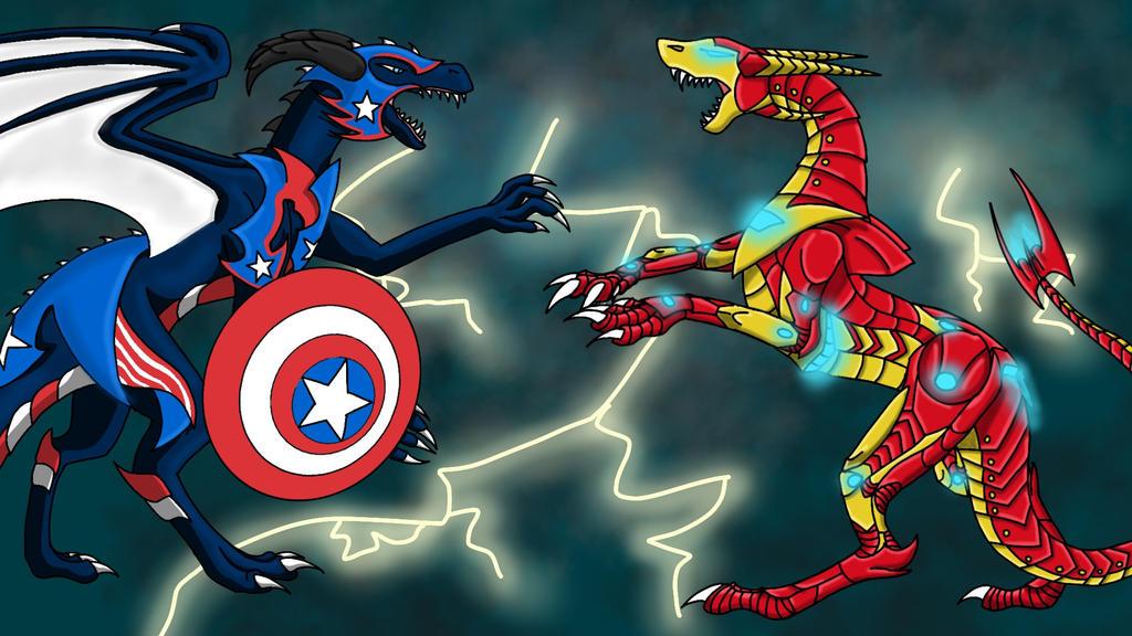 Captain America Civil War by ghostdragoness16