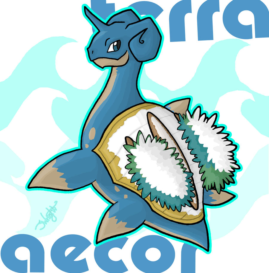 Terra Aecor - Lapras x Grotle by haha-tommy
