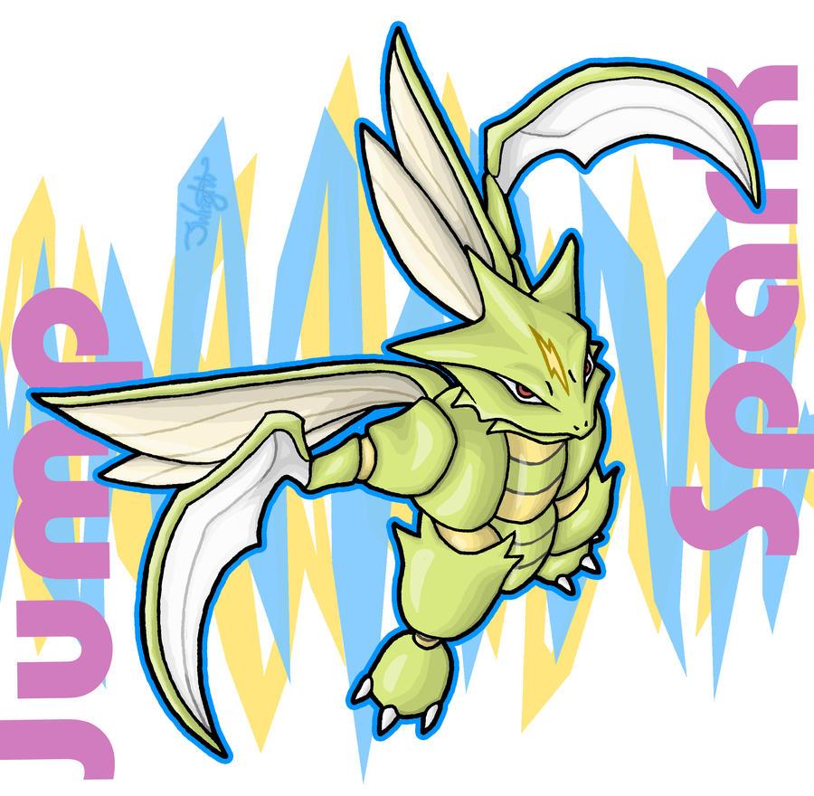 Jump Spark - Scyther by haha-tommy