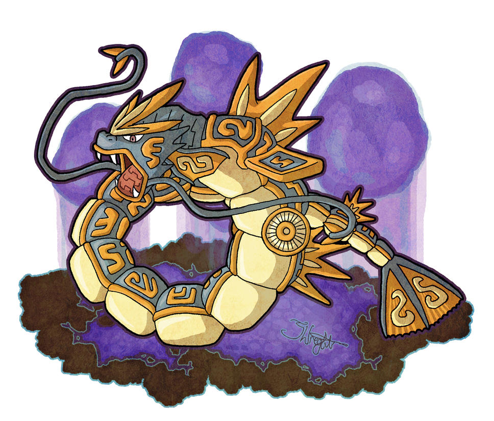Ancient Mayan Gyarados by haha-tommy