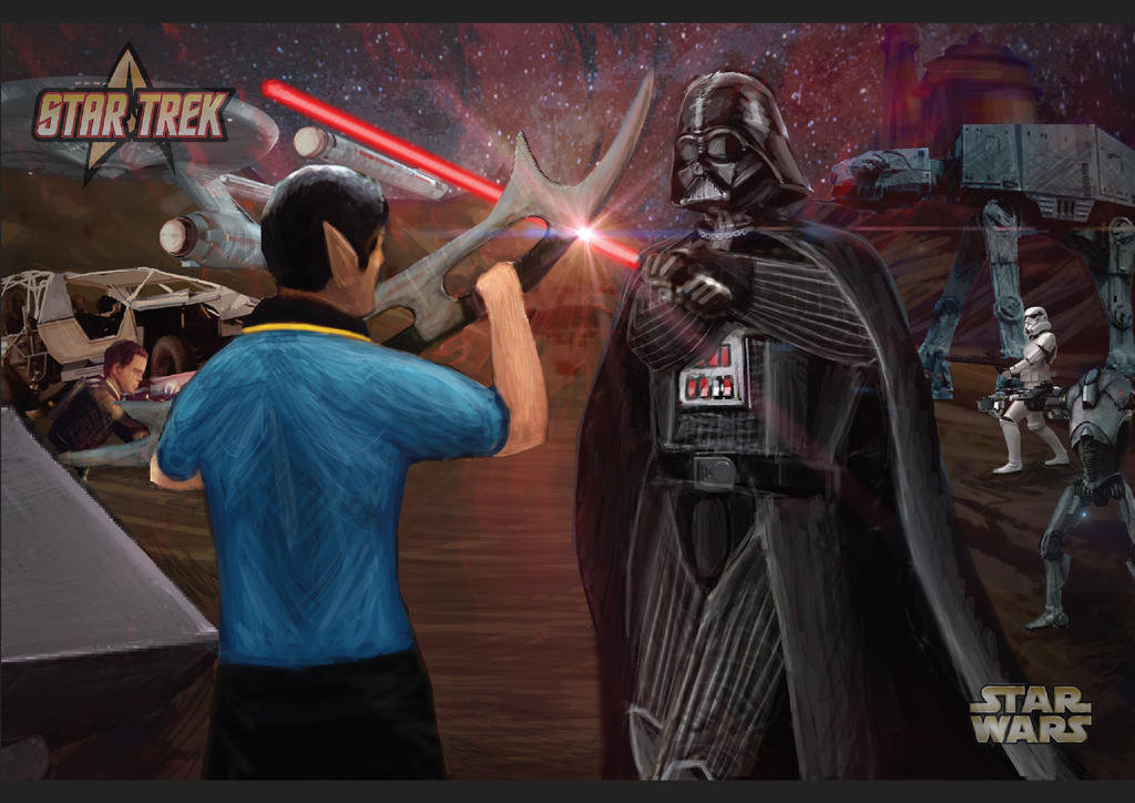 StarWars vs StarTrek by haha-tommy