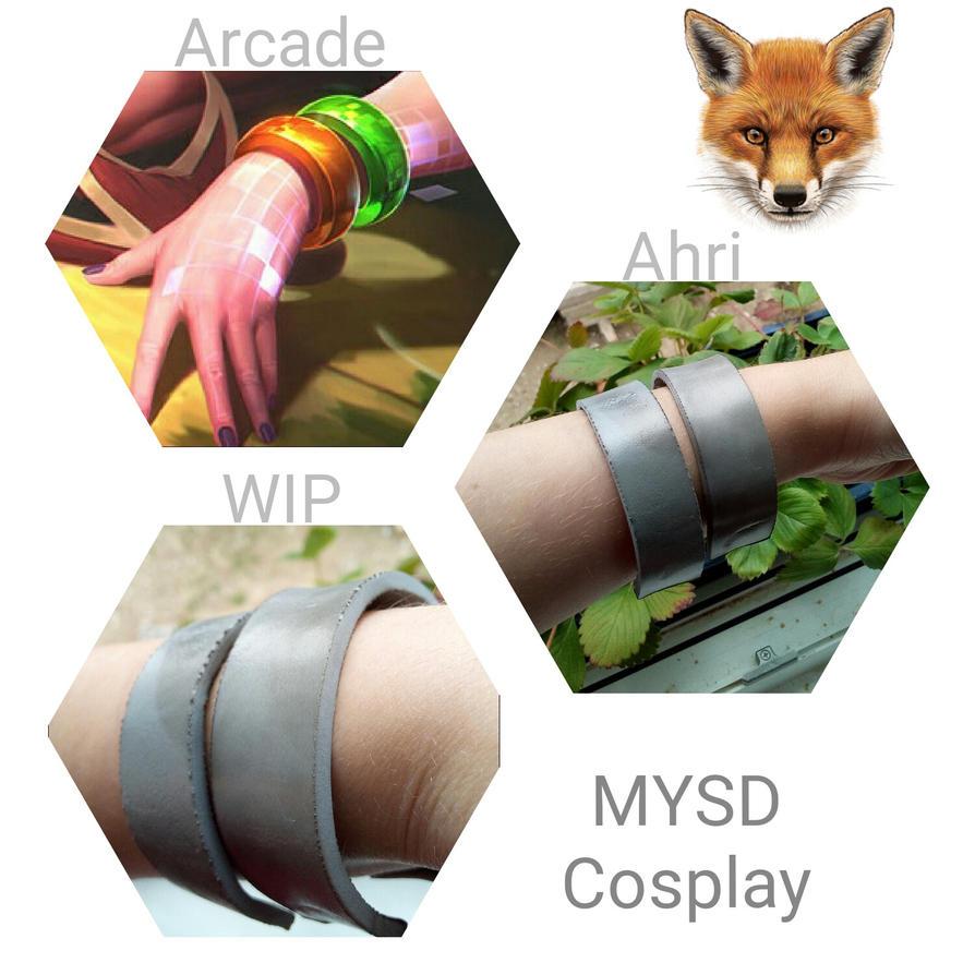 wip   arcade ahri bangles by mysd cosplay on deviantart