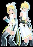 Tda Crystal Kagamine Rin/Len :-: Models Dl :-: by Ichigo-Crown