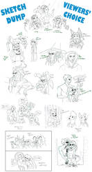 Viewers' Choice Sketch Dump! by Boxjelly1