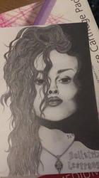 Hand drawn Bellatrix portrait