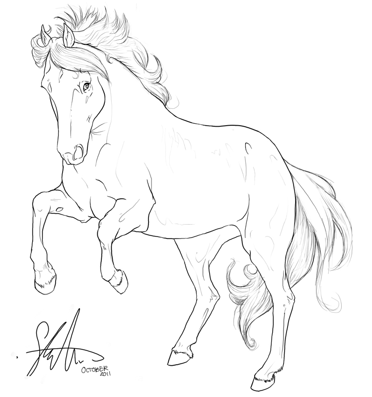 Line Art Gimp : Draft horse coloring pages