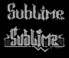 Sublime ASCIIs by roy-sac