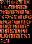 TheDraw Ansi Font 'Anniversary'