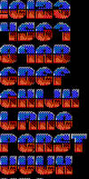 TheDraw ANSI Font 'Two Years' by roy-sac