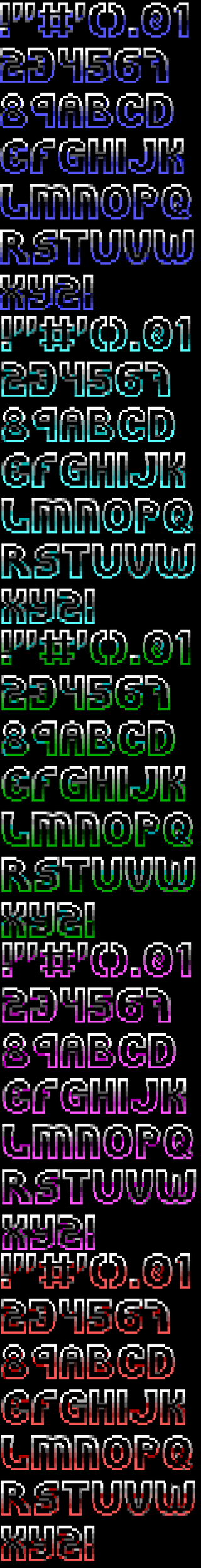 Ansi Font for TheDraw 'Font 26 Outlined' by roy-sac