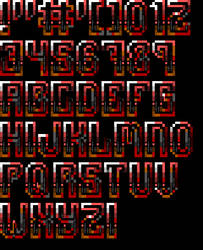 Ansi Font for TheDraw 'Font 16' by roy-sac