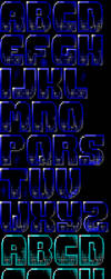 Fate Gate TheDraw TDF ANSI Font by roy-sac