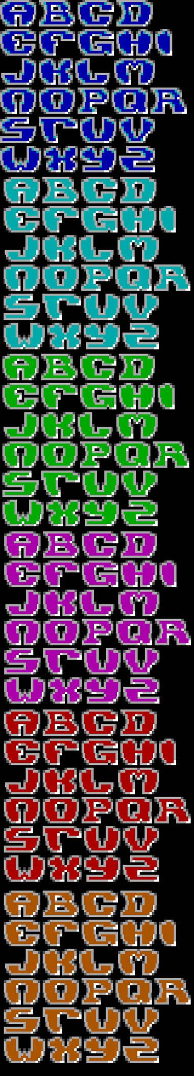 TheDraw TDF ANSI Font - Font 76