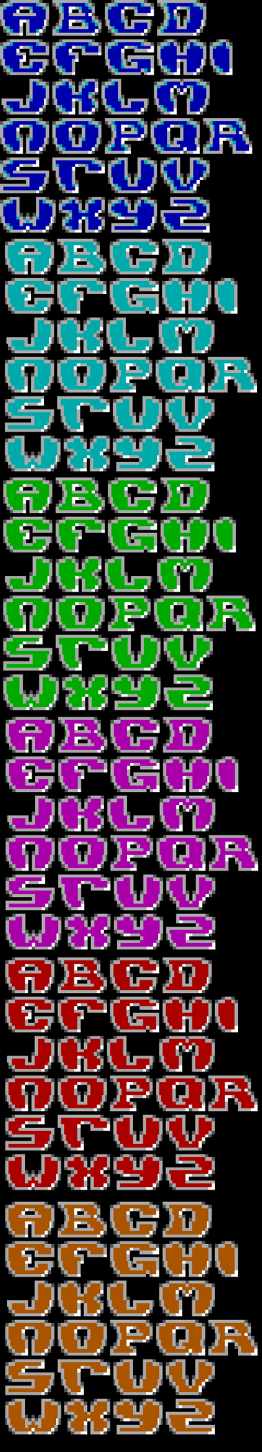 TheDraw TDF ANSI Font - Font 76 by roy-sac