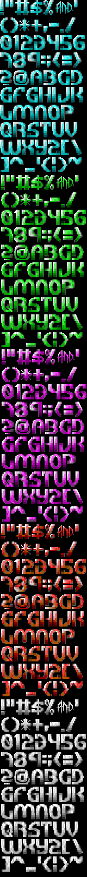 TheDraw TDF ANSI Font - Font 28 by roy-sac