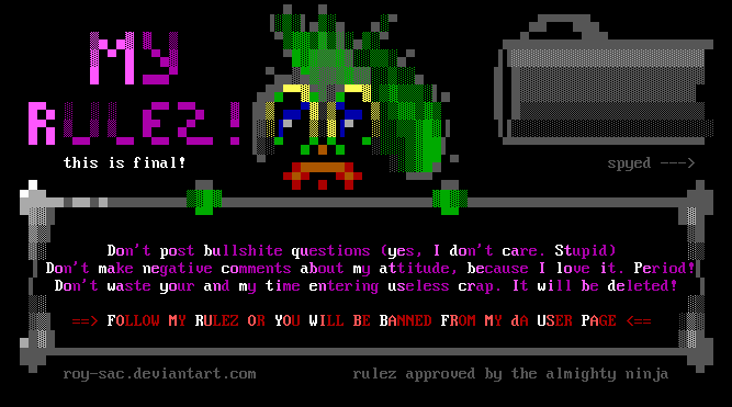 My dA Userpage Rulez ANSI by roy-sac